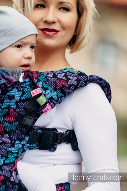 Drool Pads & Reach Straps Set, (60% cotton, 40% polyester) - BUTTERFLY WINGS at NIGHT  #babywearing