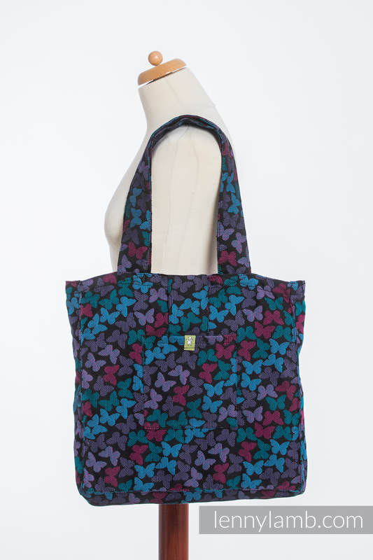 Shoulder bag made of wrap fabric (100% cotton) - BUTTERFLY WINGS at NIGHT - standard size 37cmx37cm #babywearing