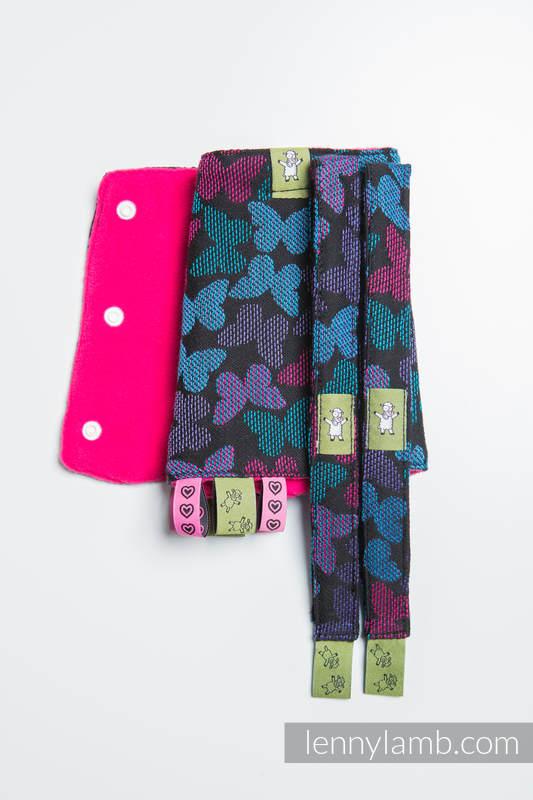 Set de protege tirantes y tiras de alcance (60% algodón, 40% Poliéster) - BUTTERFLY WINGS at NIGHT  #babywearing