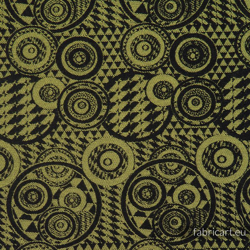PLAYGROUND KIWI Z CZARNYM, ćwiartka tkaniny, splot żakardowy, rozmiar 50cm x 70cm #babywearing