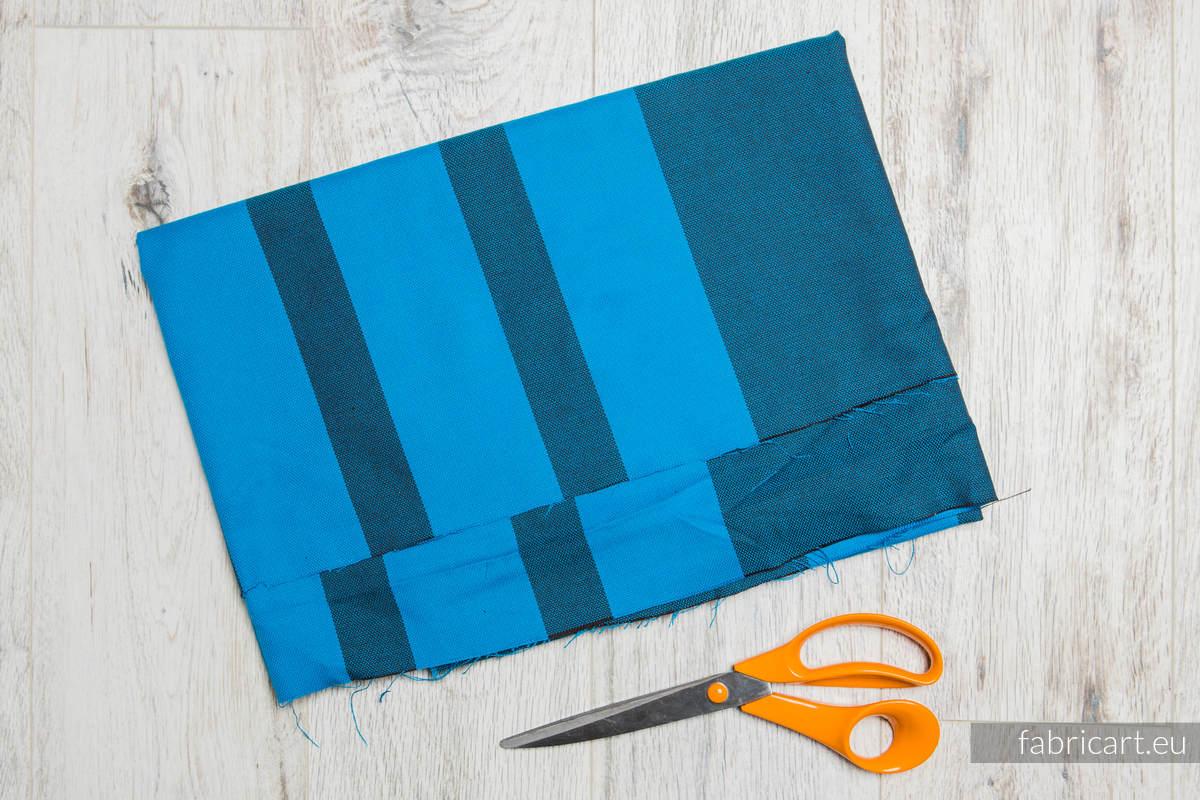 GŁĘBIA OCEANU, kupon tkaniny, splot skośno-krzyżowy, rozmiar 200cm x 140cm #babywearing