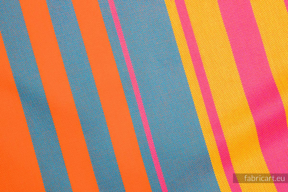 ZUMBA ORANGE, fabric scrap, broken twill weave, size 100cm x 140cm #babywearing