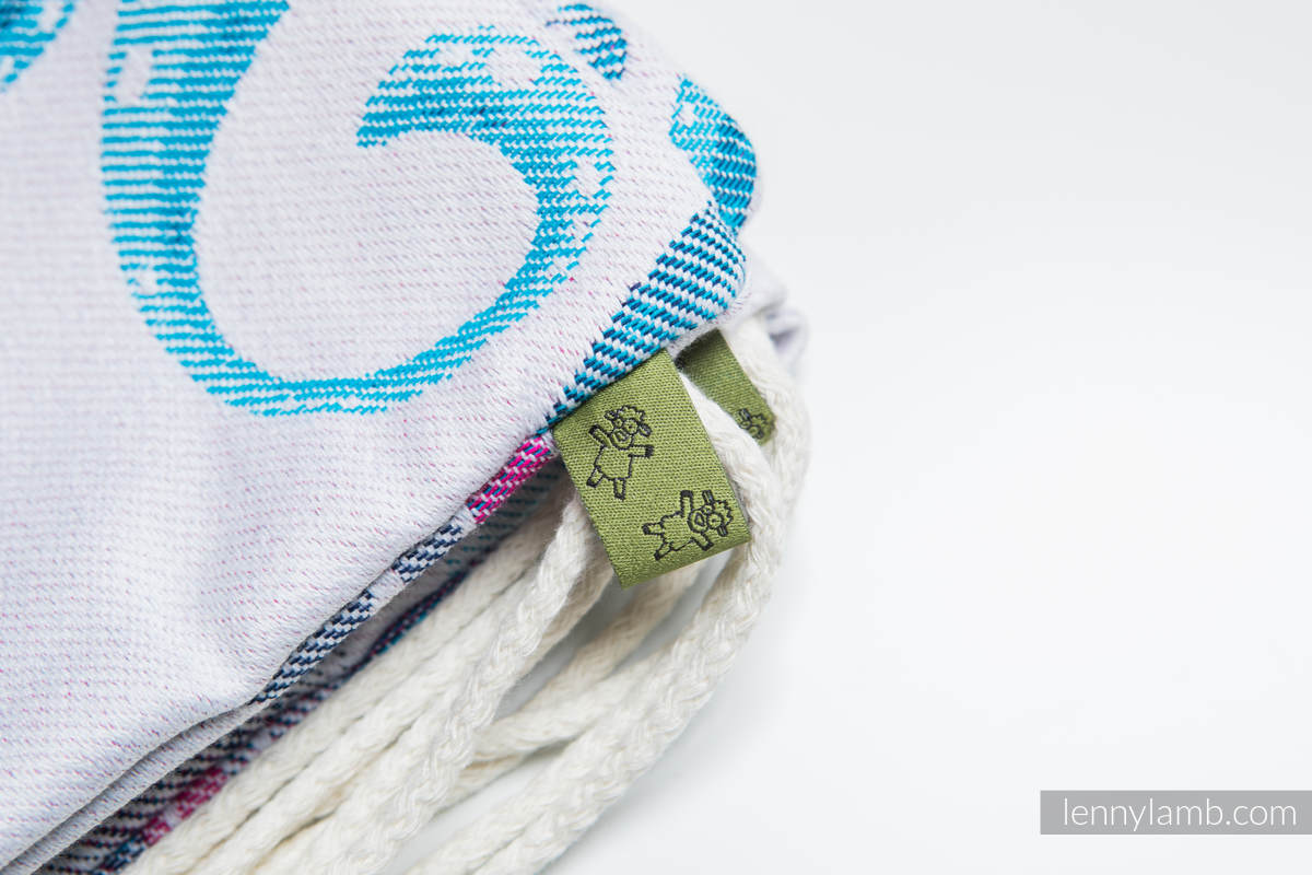 Sackpack made of wrap fabric (100% cotton) - HIGH TIDE - standard size 32cmx43cm (grade B) #babywearing