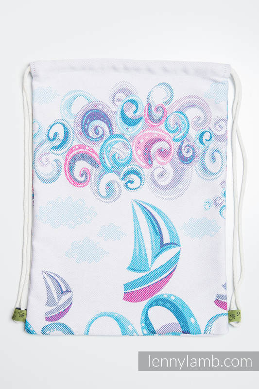 Sackpack made of wrap fabric (100% cotton) - HIGH TIDE - standard size 32cmx43cm #babywearing