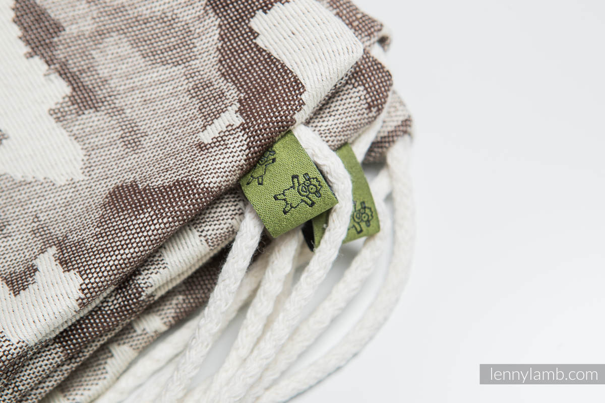 Sackpack made of wrap fabric (100% cotton) - BEIGE CAMO - standard size 32cmx43cm #babywearing