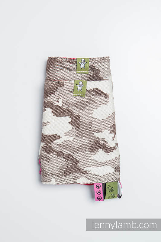 Drool Pads & Reach Straps Set, (100% cotton) - BEIGE CAMO #babywearing