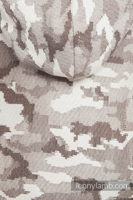 Nosidełko Ergonomiczne z tkaniny żakardowej 100% bawełna , Toddler Size, BEŻOWE MORO - Druga Generacja #babywearing
