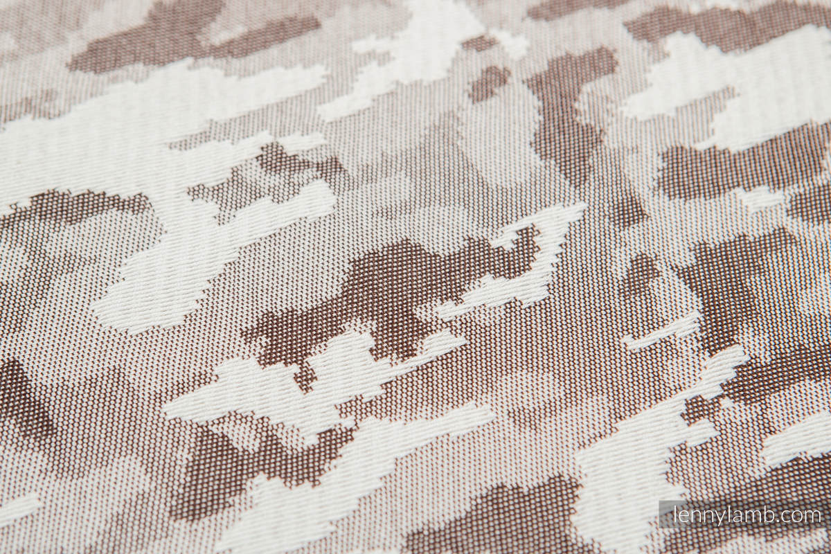 Baby Wrap, Jacquard Weave (100% cotton) - BEIGE CAMO - size L #babywearing