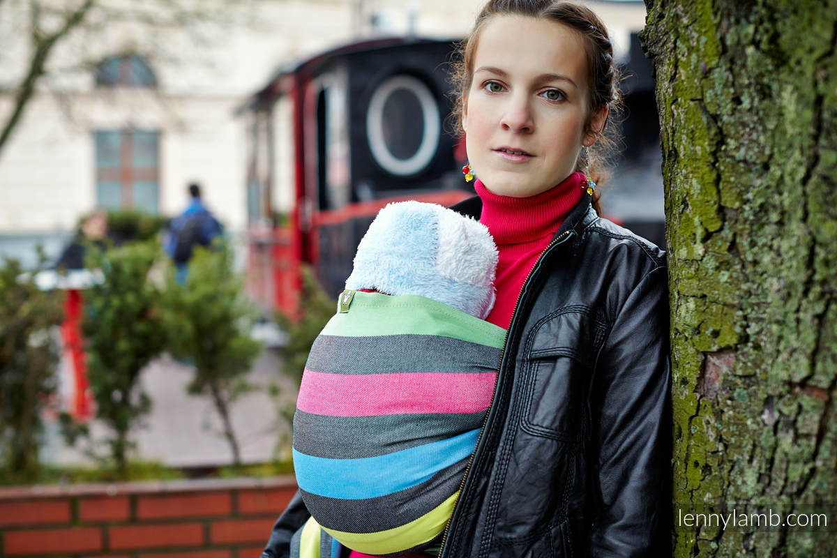 Baby Sling, Broken Twill Weave (bamboo + cotton) - Twilight - size XL #babywearing