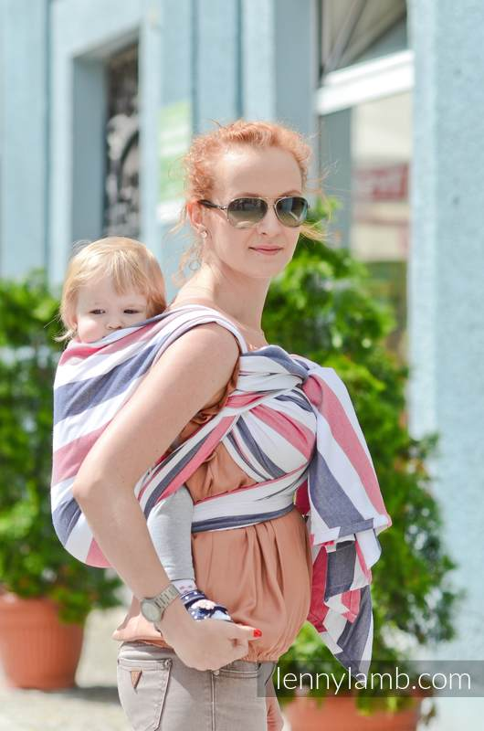 Baby Sling, Broken Twill Weave (bamboo + cotton) - Marine - size S #babywearing