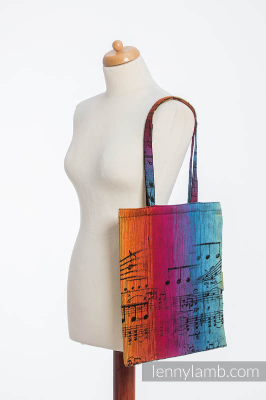 Shopping bag made of wrap fabric (100% cotton) - SYMPHONY RAINBOW DARK #babywearing