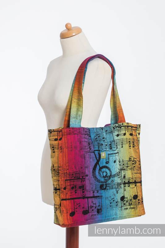 Shoulder bag made of wrap fabric (100% cotton) - SYMPHONY RAINBOW DARK - standard size 37cmx37cm #babywearing