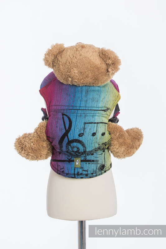 Doll Carrier made of woven fabric, 100% cotton - SYMPHONY RAINBOW DARK #babywearing