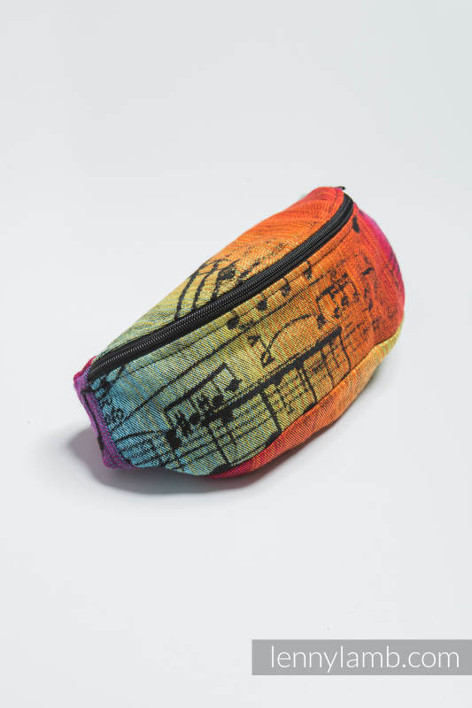 Waist Bag made of woven fabric, (100% cotton) - SYMPHONY RAINBOW DARK #babywearing
