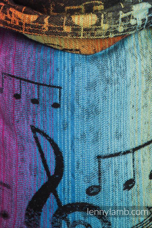 Lenny Buckle Onbuhimo Tragehilfe, Größe Standard, Jacquardwebung (100% Baumwolle) - SYMPHONY RAINBOW DARK #babywearing