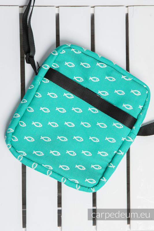 Torba na ramię z materiału żakardowego, (100% bawełna) - ICHTYS - ZIELONY #babywearing