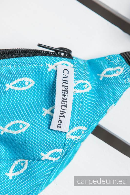 Saszetka z tkaniny żakardowej, (100% BAWEŁNA) - ICHTYS - NIEBIESKI #babywearing