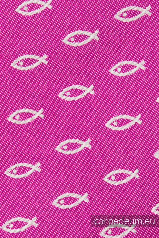 Torba na ramię z materiału żakardowego, (100% bawełna) - ICHTYS - RÓŻOWY (drugi gatunek) #babywearing