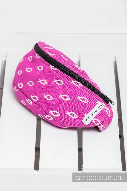 Saszetka z tkaniny żakardowej, (100% BAWEŁNA) - ICHTYS - RÓŻOWY #babywearing