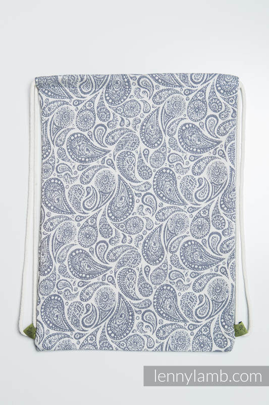 Sackpack made of wrap fabric (100% cotton) - PAISLEY NAVY BLUE & CREAM - standard size 32cmx43cm #babywearing