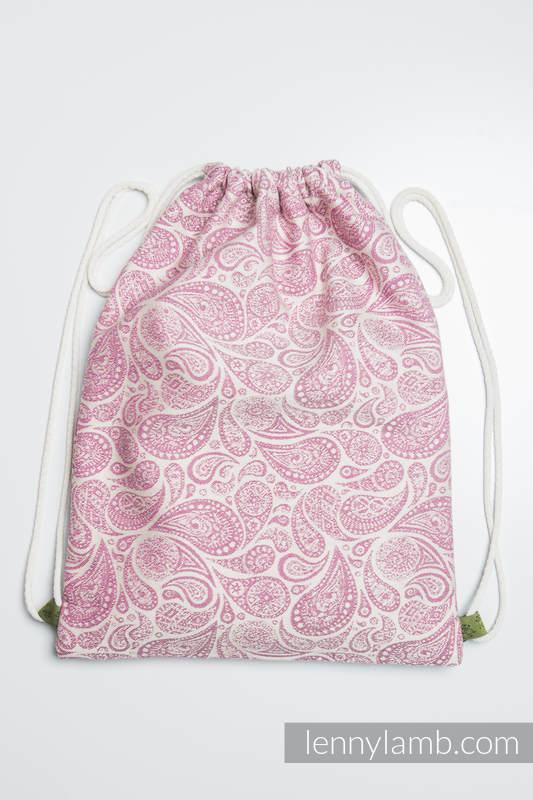 d867f3eb8e Sackpack made of wrap fabric (100% cotton) - PAISLEY PURPLE   CREAM -