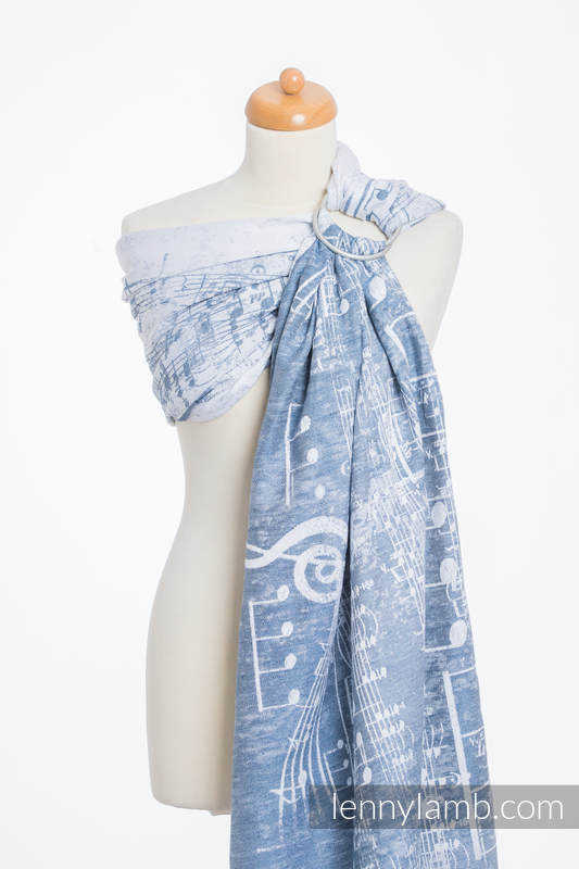 Ringsling, Jacquard Weave (60% cotton 28% linen 12% tussah silk) - ROYAL SYMPHONY - standard 1.8m #babywearing
