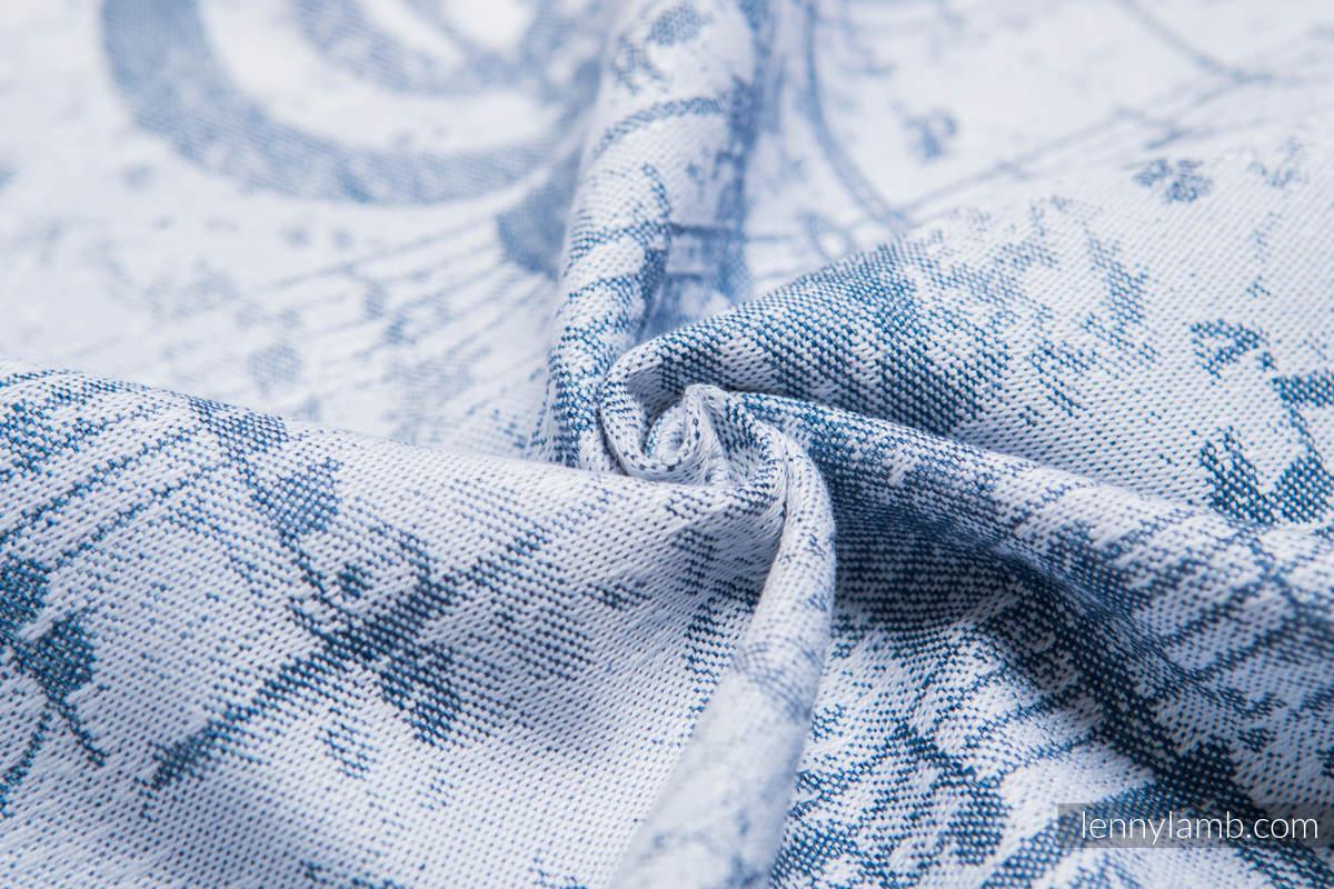 Żakardowa chusta do noszenia dzieci, 60% Bawełna 28% Len 12% Jedwab Tussah - KRÓLEWSKA SYMFONIA - rozmiar XS #babywearing