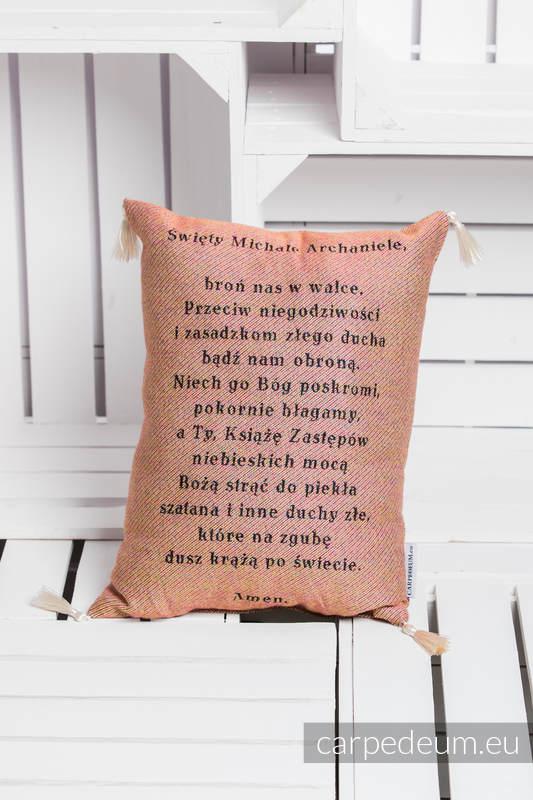 Poduszka żakardowa, (100% bawełna) - MICHAŁ ARCHANIOŁ - uniwersalny rozmiar 31cmx43cm #babywearing