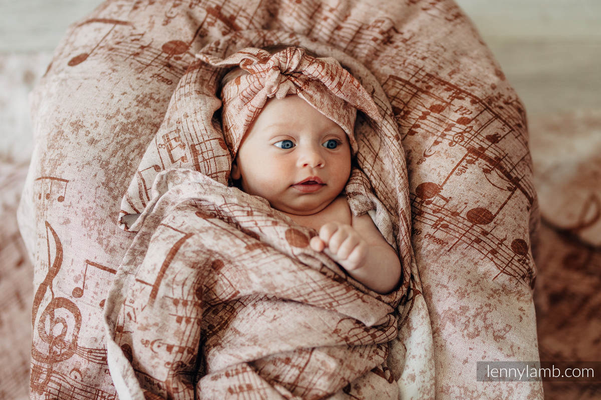Swaddle Wrap - SYMPHONY BROWN & CREAM (grade B) #babywearing