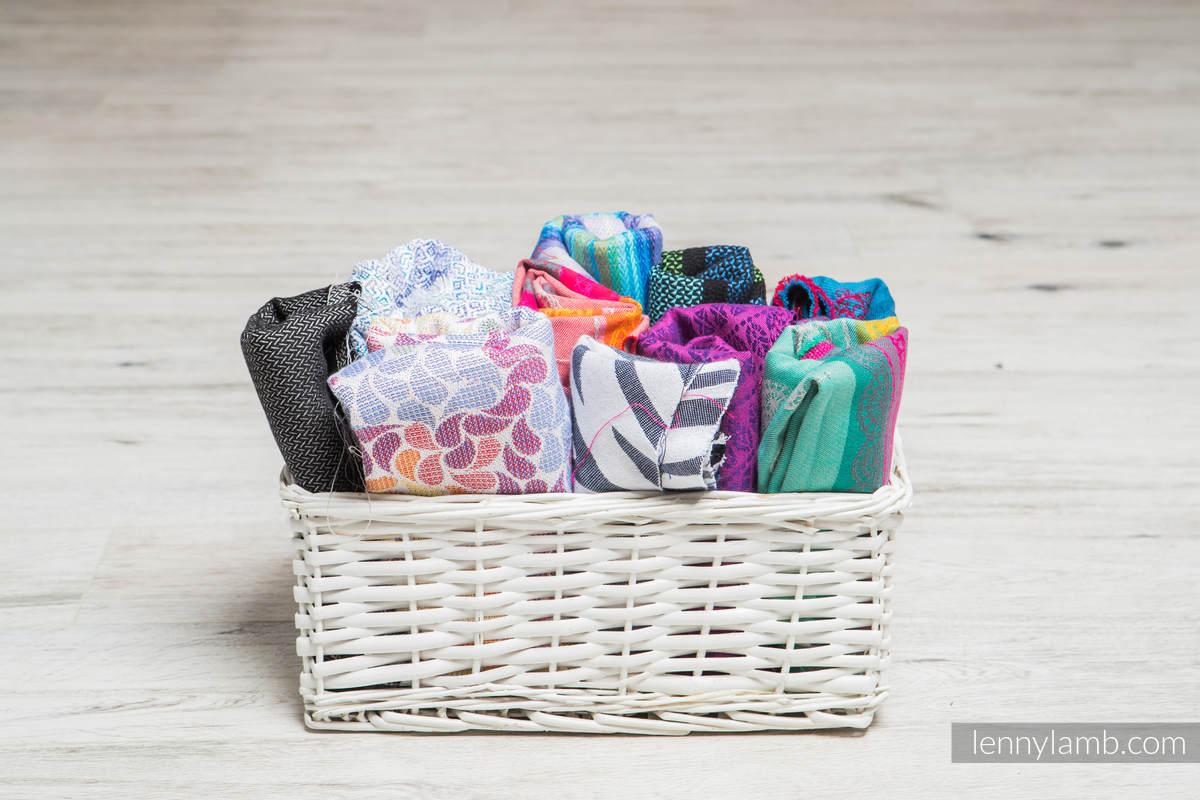 Scraps of jacquard wrap materials #babywearing