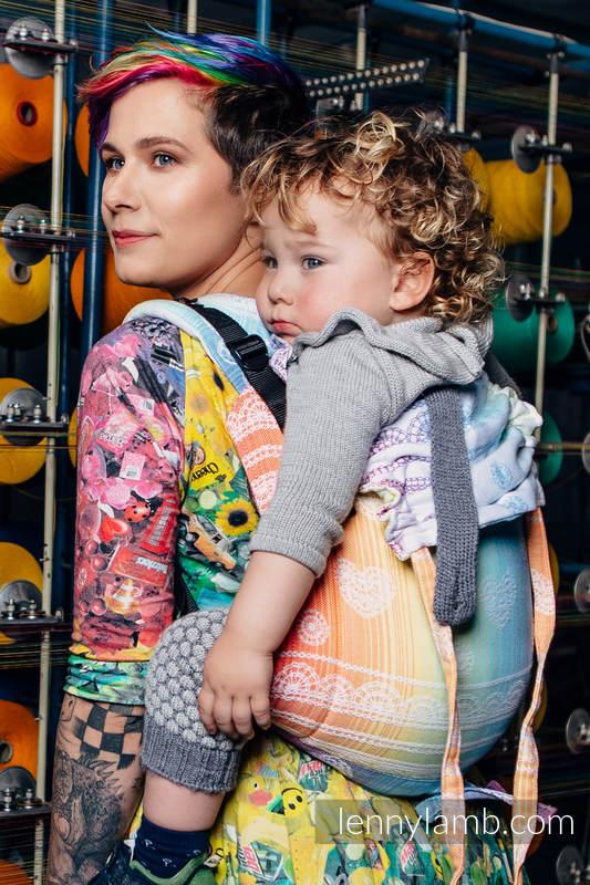 Lenny Buckle Onbuhimo Tragehilfe, Größe Standard, Jacquardwebung (100% Baumwolle) - RAINBOW LACE #babywearing