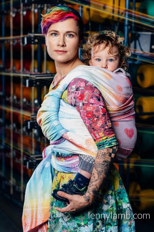 Baby Wrap, Jacquard Weave (100% cotton) - RAINBOW LACE - size S (grade B) #babywearing