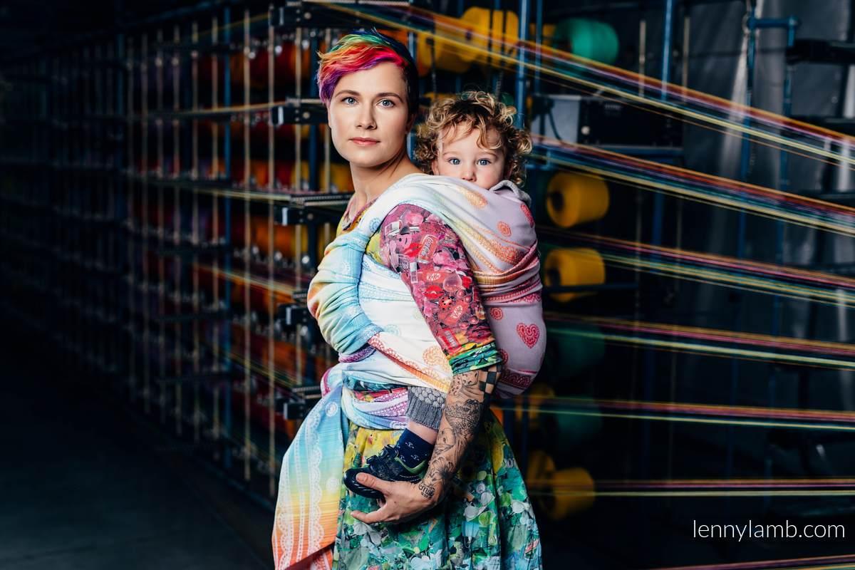 Baby Wrap, Jacquard Weave (100% cotton) - RAINBOW LACE - size L #babywearing