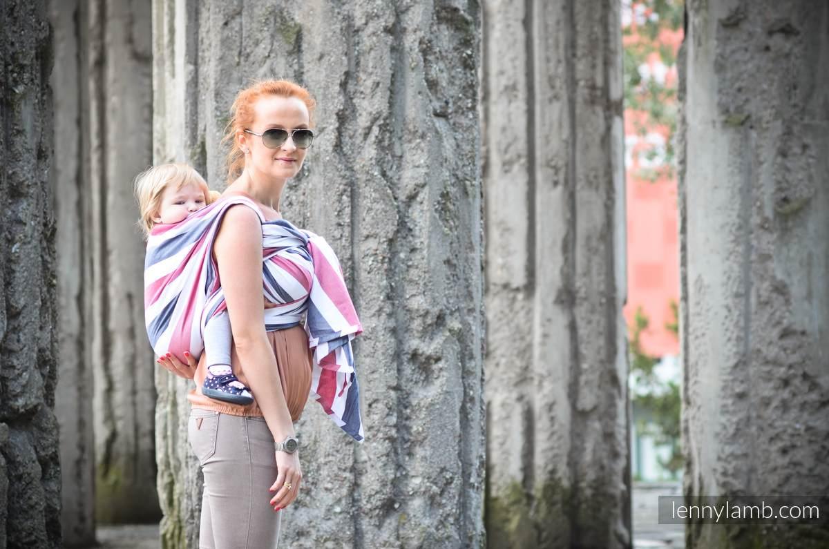 Baby Sling, Broken Twill Weave (bamboo + cotton) - Marine - size XS #babywearing