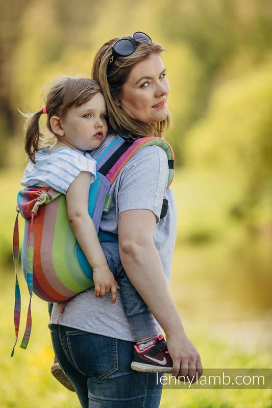 Onbuhimo SAD LennyLamb, talla toddler, sarga cruzada (100% algodón) - CORAL REEF #babywearing