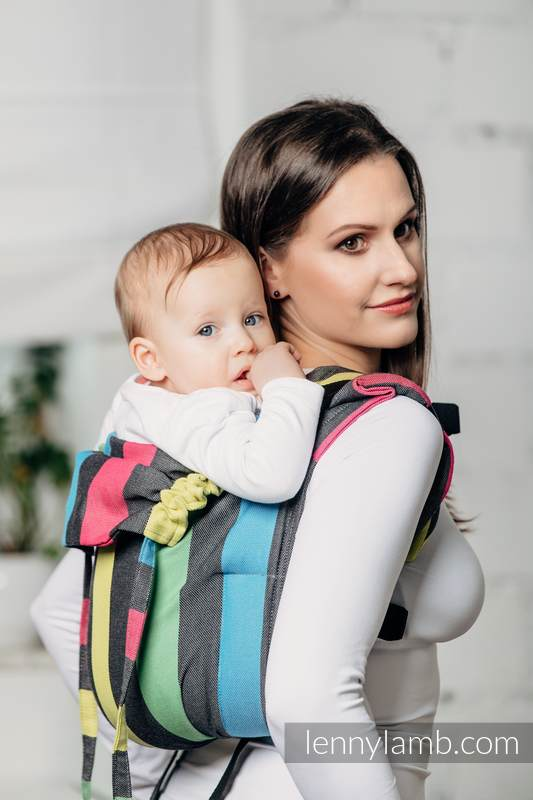 Lenny Buckle Onbuhimo baby carrier, standard size, broken-twill weave (60% cotton, 40% bamboo) - TWILIGHT #babywearing