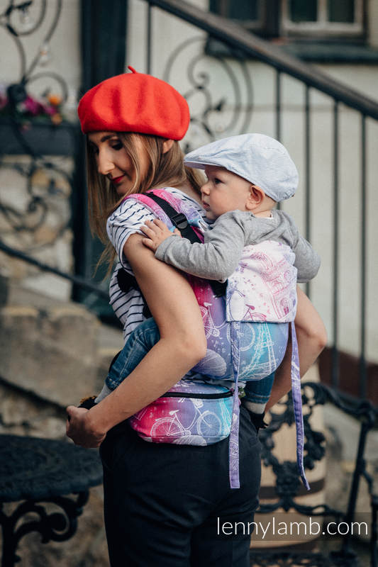 Waist Bag made of woven fabric, (100% cotton) - CITY OF LOVE  #babywearing