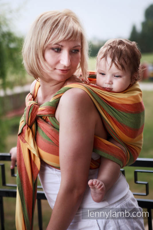 Baby Sling, Broken Twill Weave (bamboo + cotton) - Spring - size XS #babywearing
