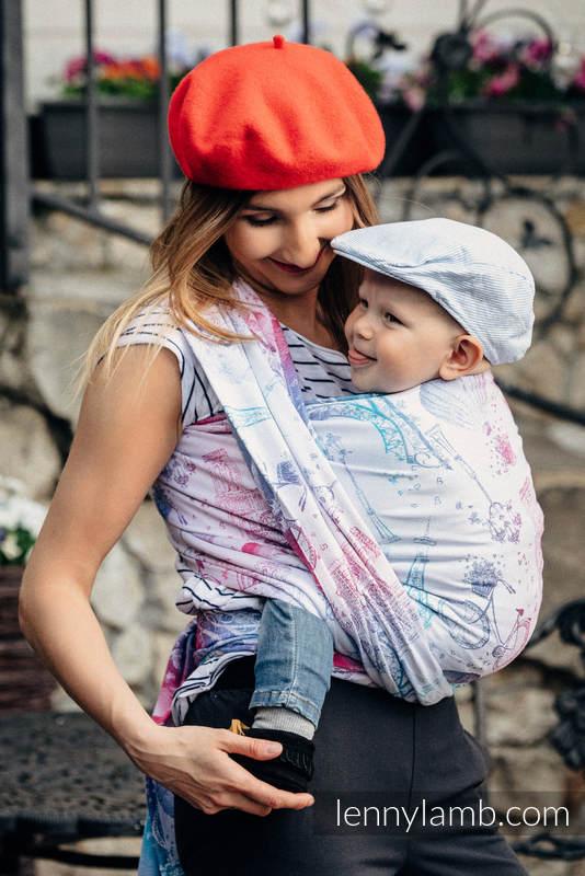 Baby Wrap, Jacquard Weave (100% cotton) - CITY OF LOVE - size M #babywearing