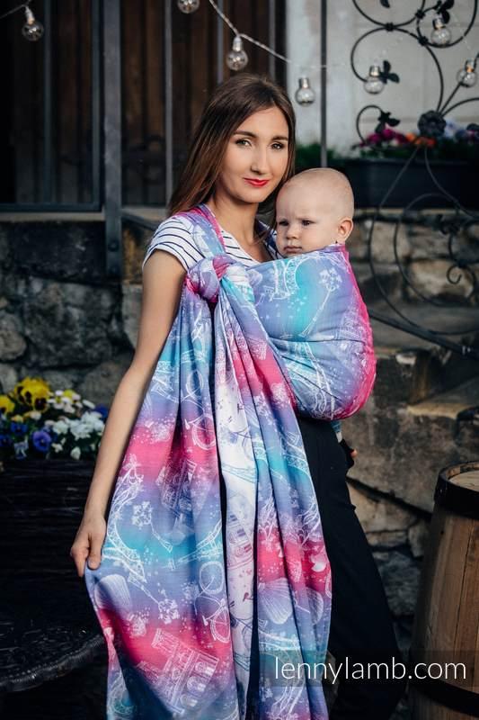 Baby Wrap, Jacquard Weave (100% cotton) - CITY OF LOVE - size XS #babywearing