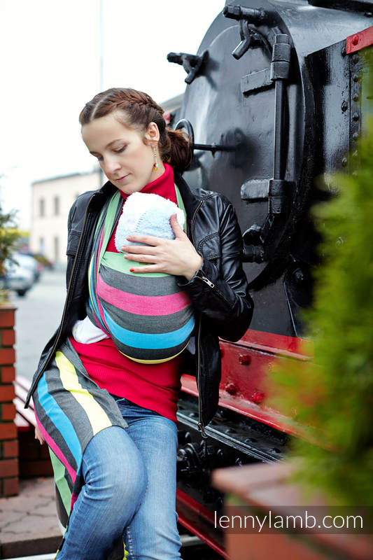 Baby Sling, Broken Twill Weave (bamboo + cotton) - Twilight - size XS #babywearing
