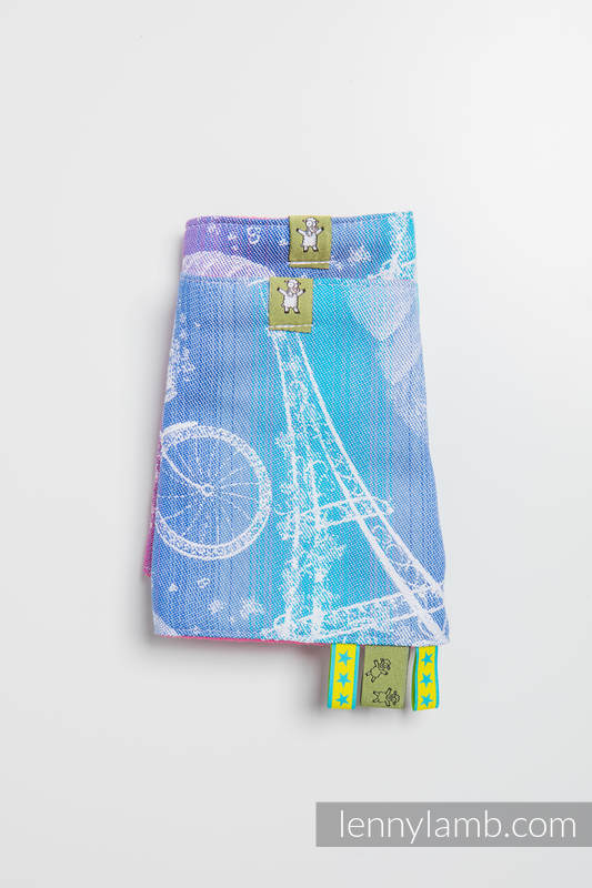 Drool Pads & Reach Straps Set, (100% cotton) - CITY OF LOVE  #babywearing
