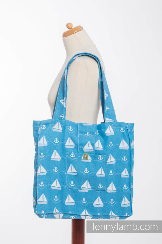 Shoulder bag made of wrap fabric (100% cotton) - HOLIDAY CRUISE - standard size 37cmx37cm #babywearing