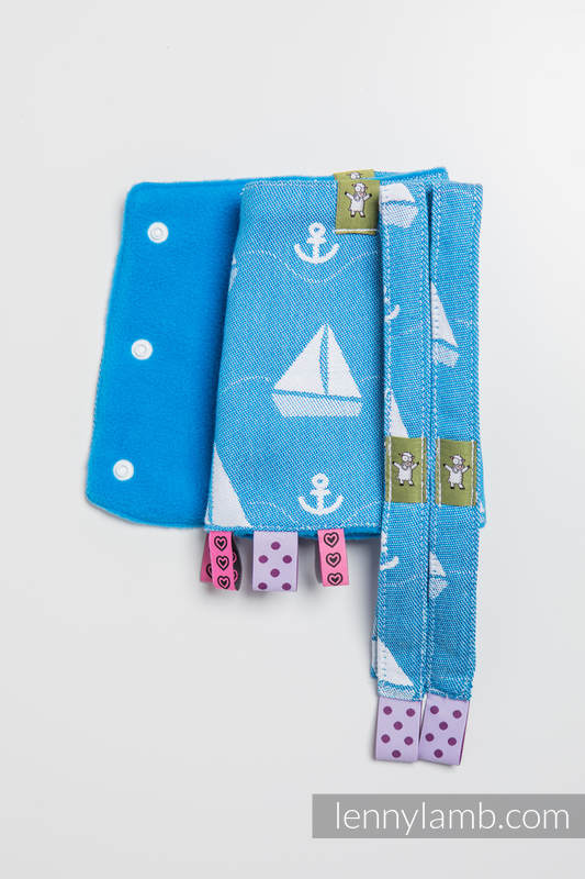 Drool Pads & Reach Straps Set, (100% cotton) - HOLIDAY CRUISE   #babywearing