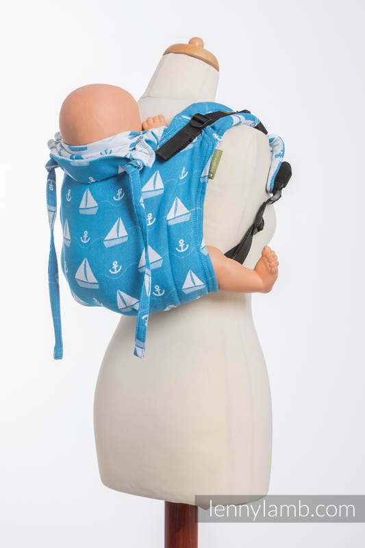 Lenny Buckle Onbuhimo, standard size, jacquard weave (100% cotton) - Wrap conversion from HOLIDAY CRUISE  #babywearing
