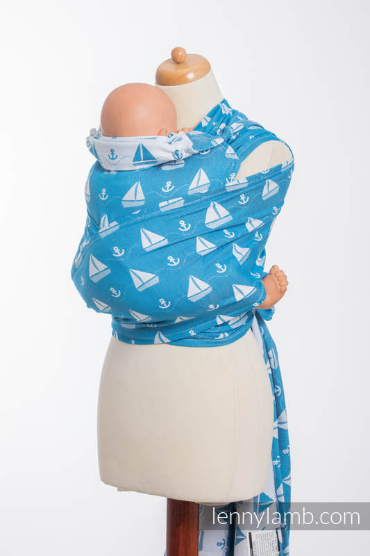 WRAP-TAI carrier Mini with hood/ jacquard twill / 100% cotton / HOLIDAY CRUISE  #babywearing