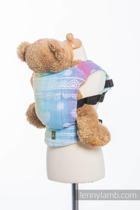 Mochila portamuñecos hecha de tejido, 100% algodón - RAINBOW LACE (grado B) #babywearing