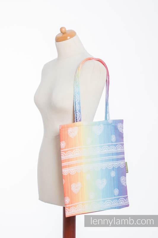 Shopping bag made of wrap fabric (100% cotton) - RAINBOW LACE #babywearing