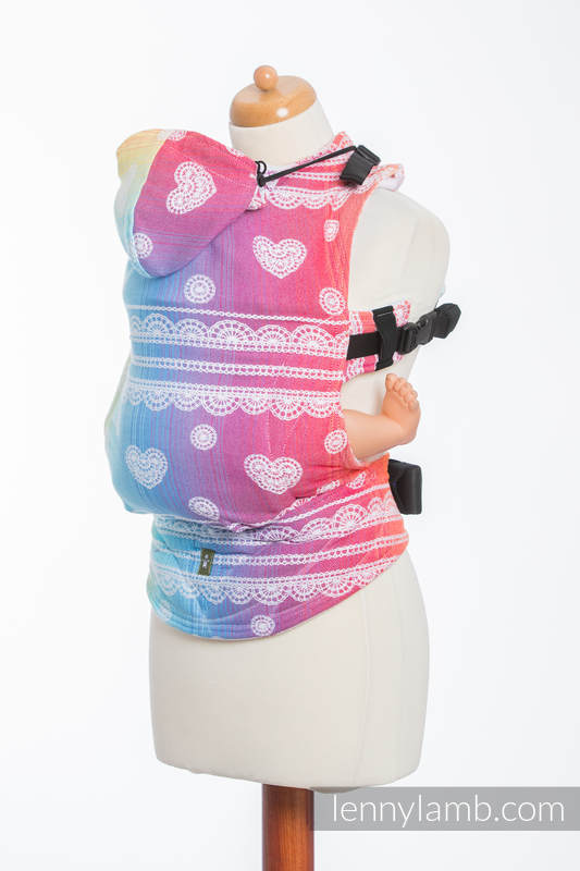 Ergonomic Carrier, Baby Size, jacquard weave 100% cotton - RAINBOW LACE - Second Generation (grade B) #babywearing