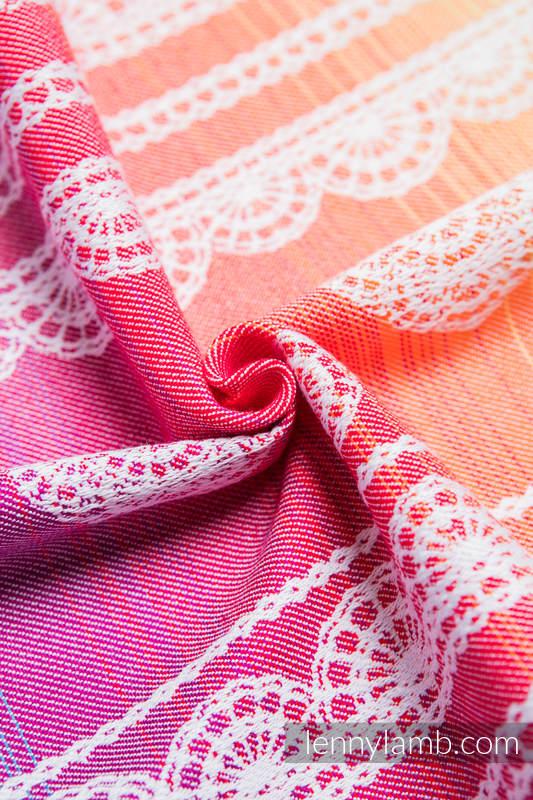 Baby Wrap, Jacquard Weave (100% cotton) - RAINBOW LACE - size XL #babywearing